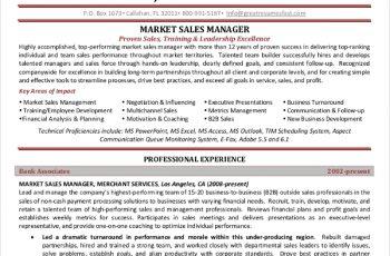 Marketing Sales Manager Resume1