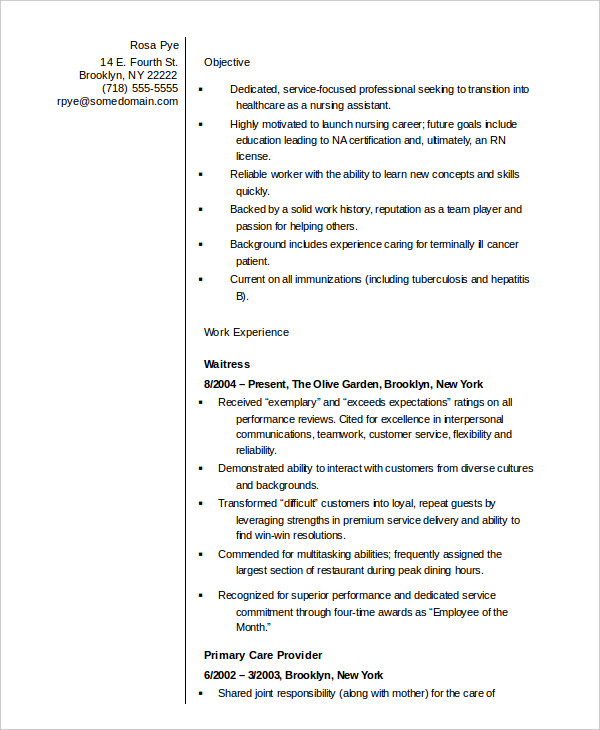 Nurse Manager Resume