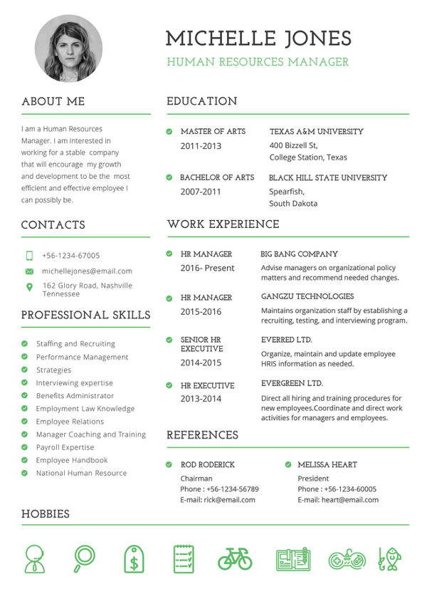 Professional HR Resume templates