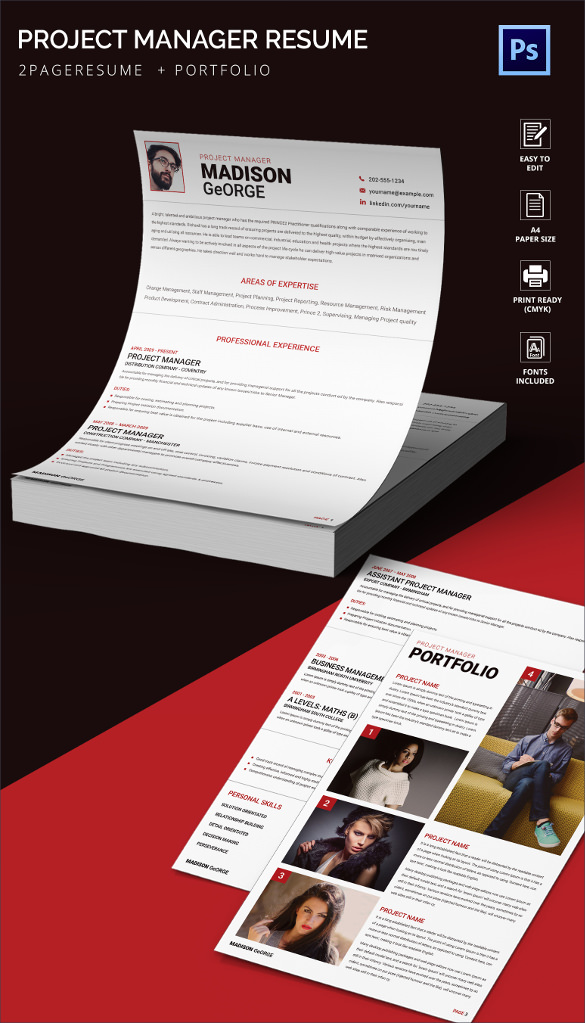 Project Manager Resume templates1 1