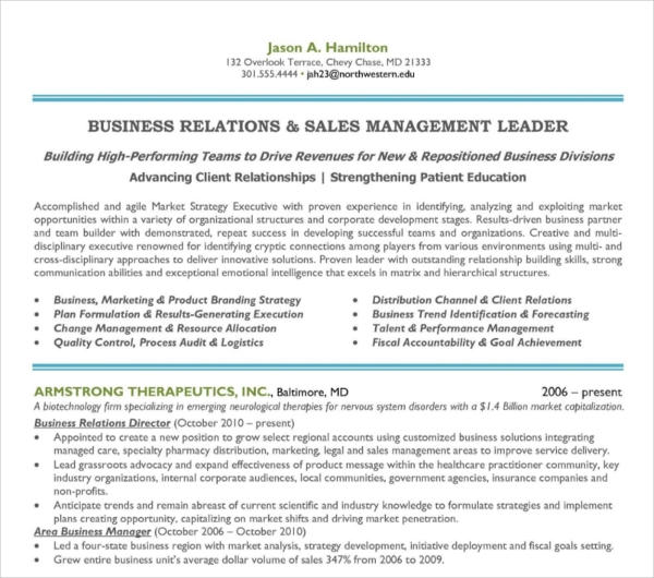 Sales Marketing Manager Resume1