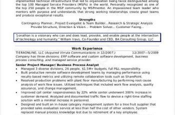 Senior IT Manager Resume