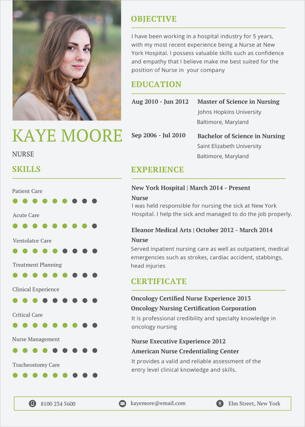 Simple Nursing Resume templates