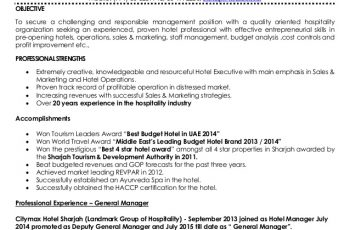 ashfaq sheikh resume general manager