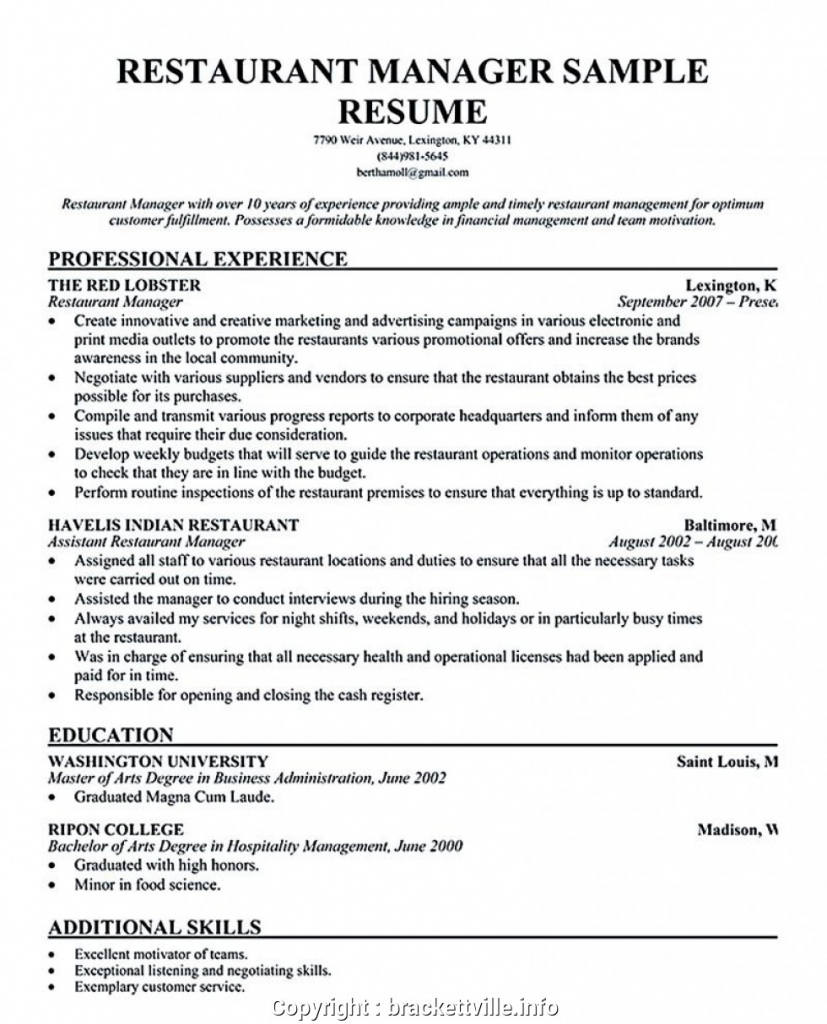 cover letter assistant manager skills resume resume samples for restaurant assistant manager resume examples