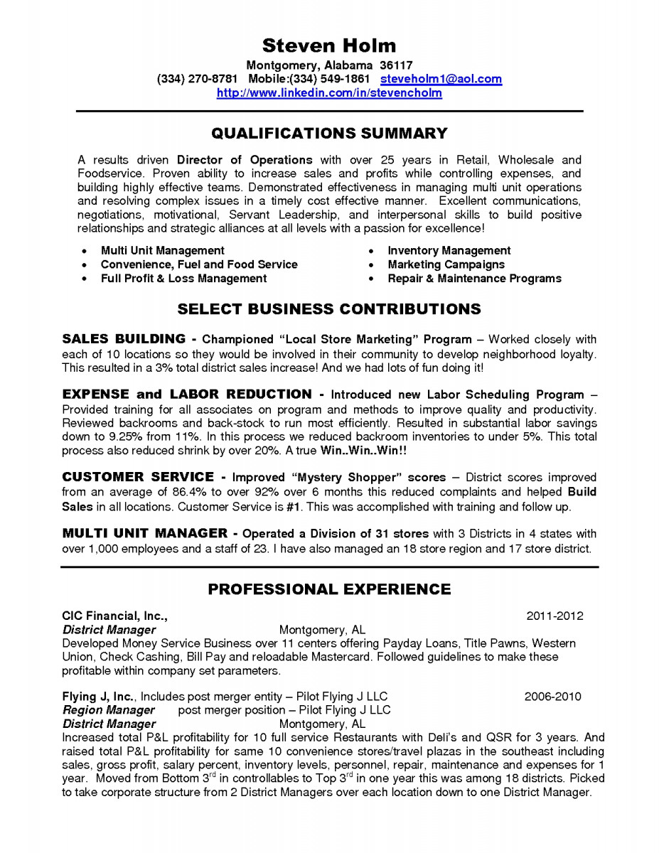 Retail District Manager Resume Examples | JobHero