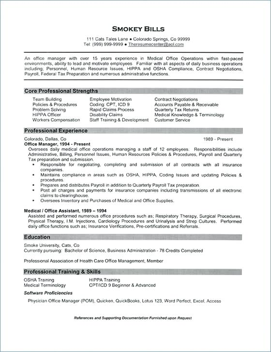 health management resume templates
