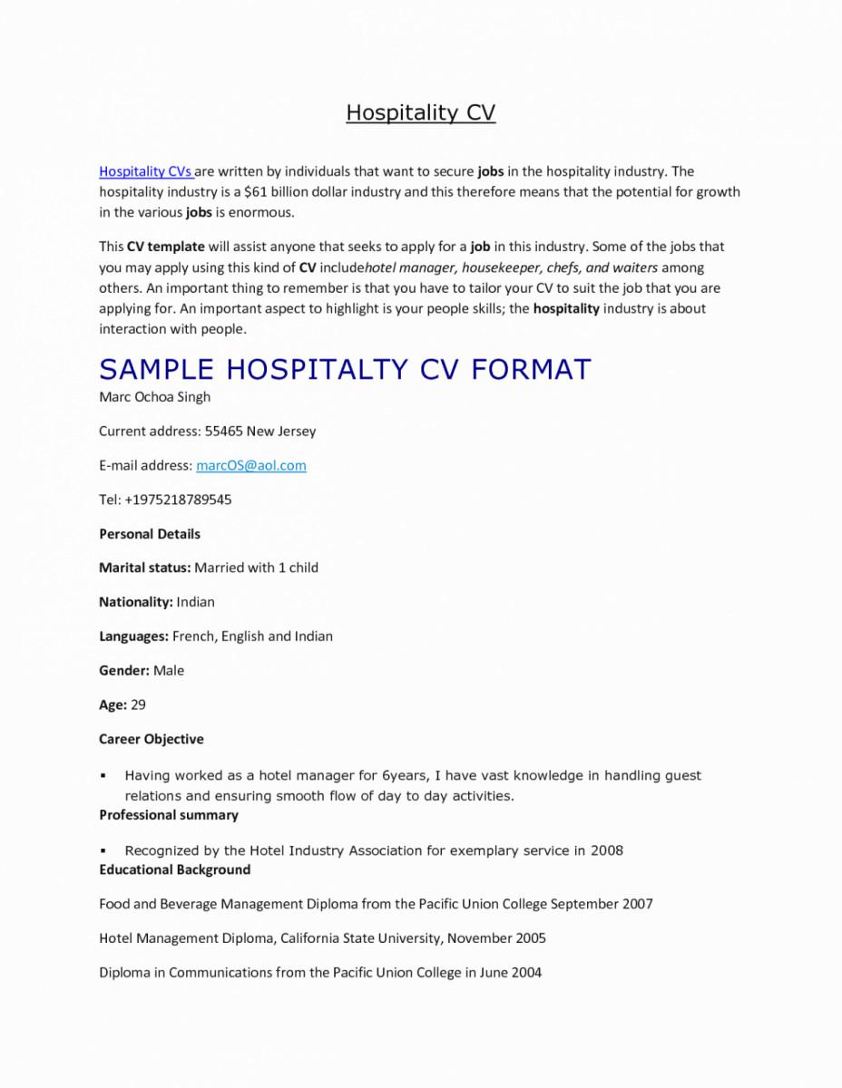 hotel concierge resume elegant templates