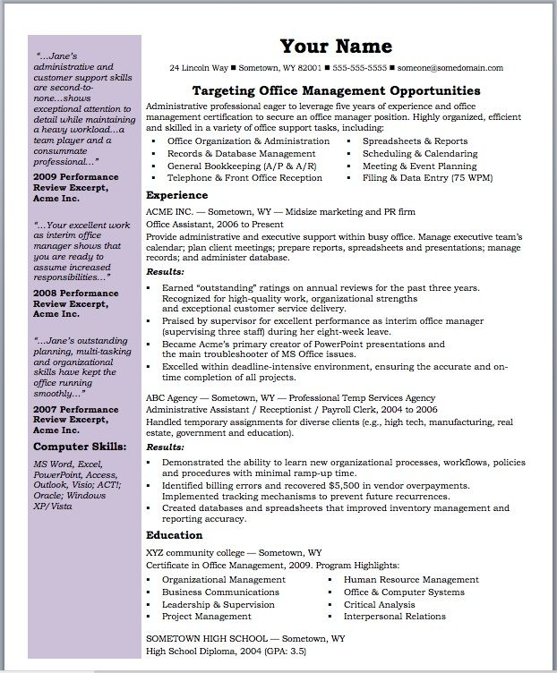 management skills for resume template