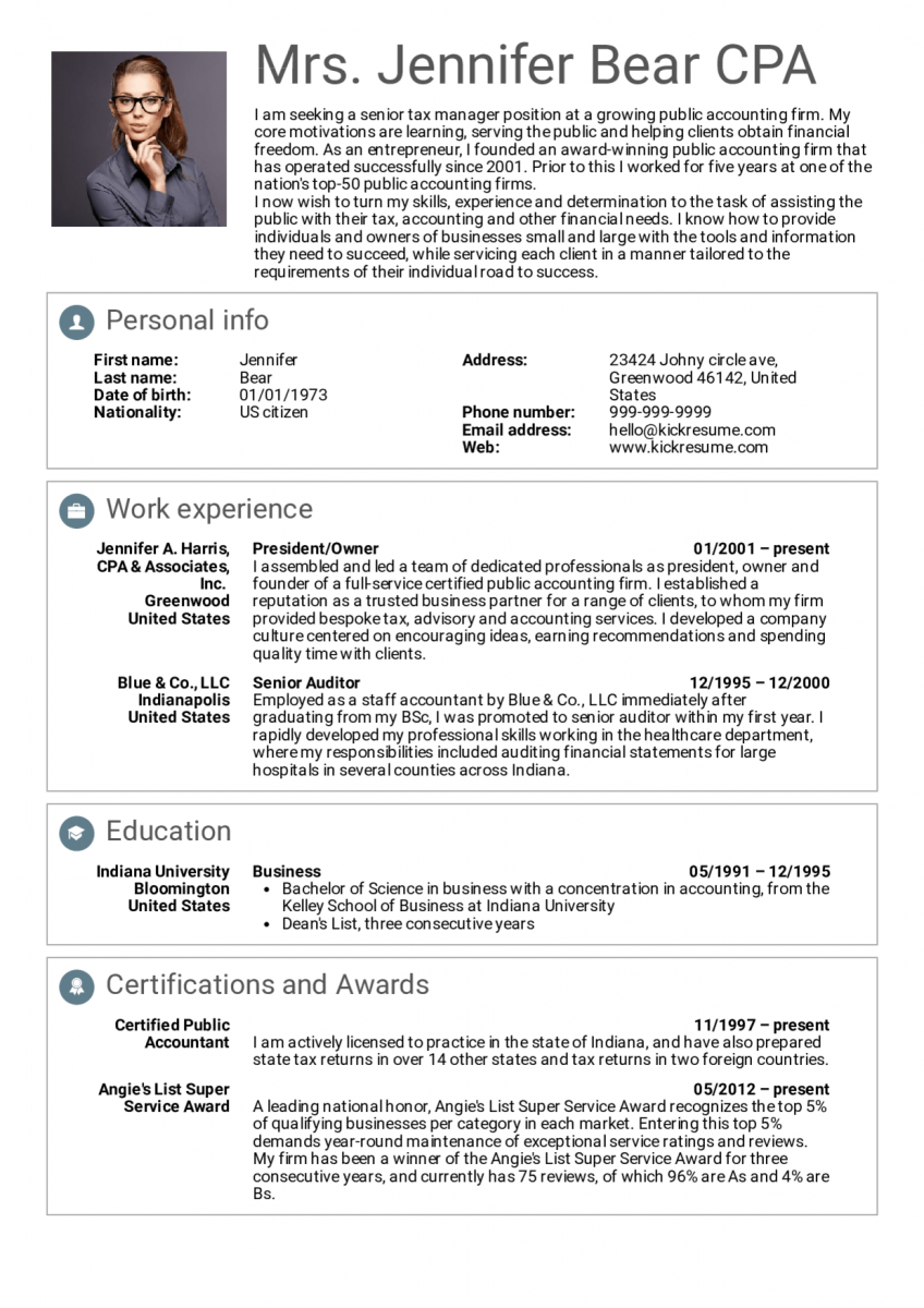 manager senior manager resume example