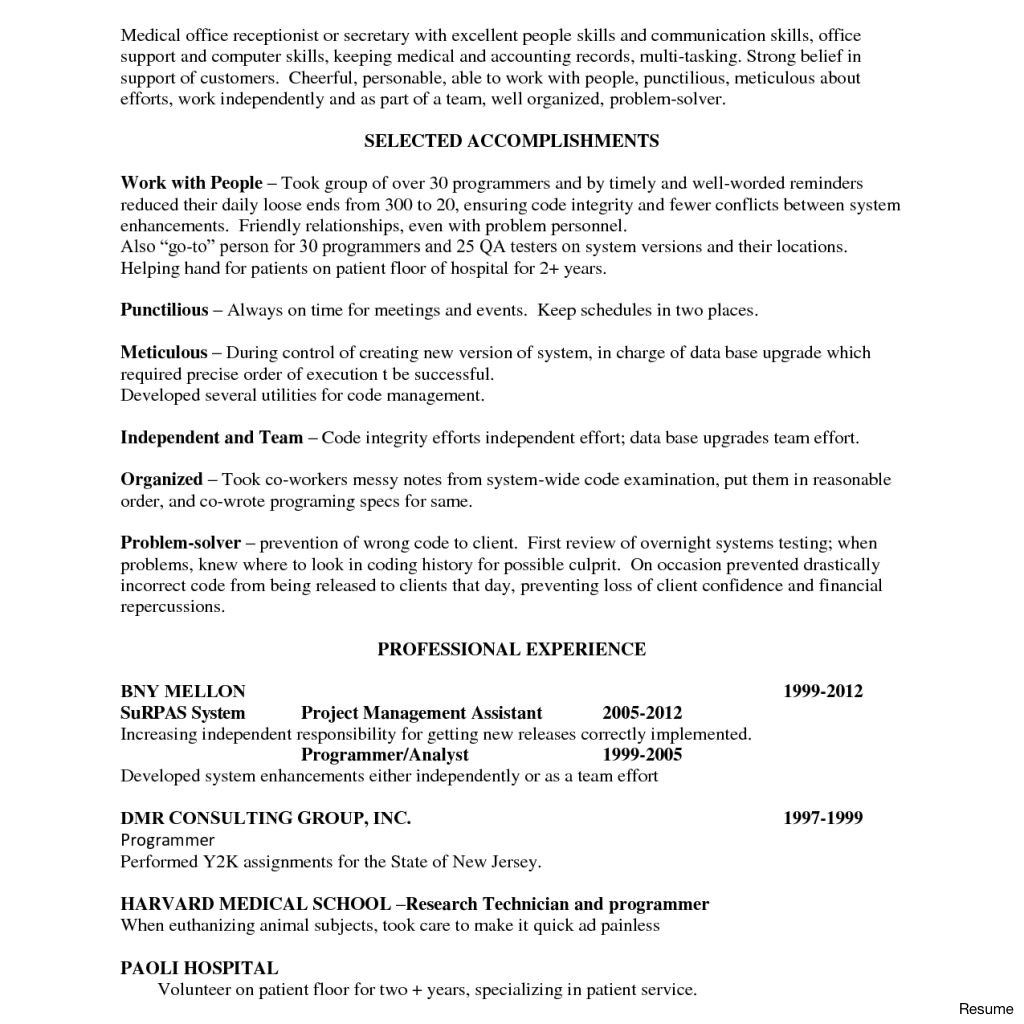 medical fice receptionist medical office manager resume