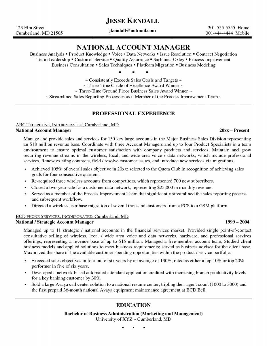 Quality Manager Resume