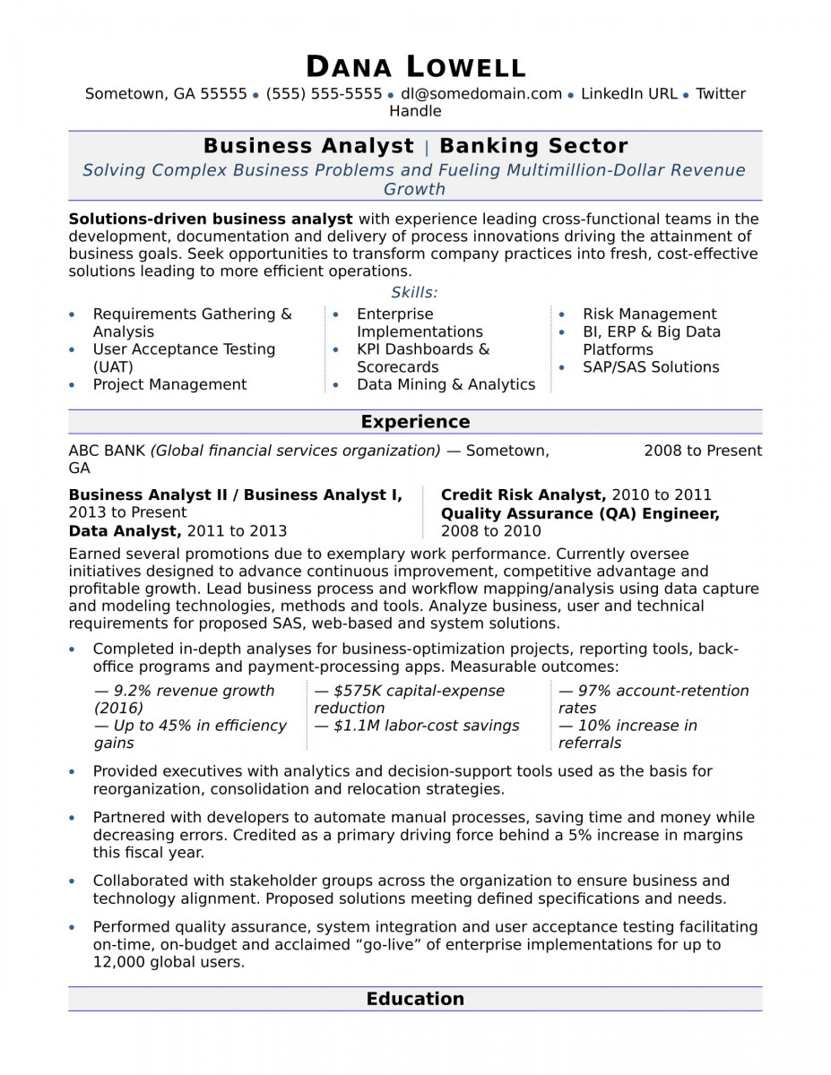 reporting data analyst resume