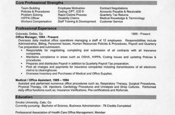 sample resume manager