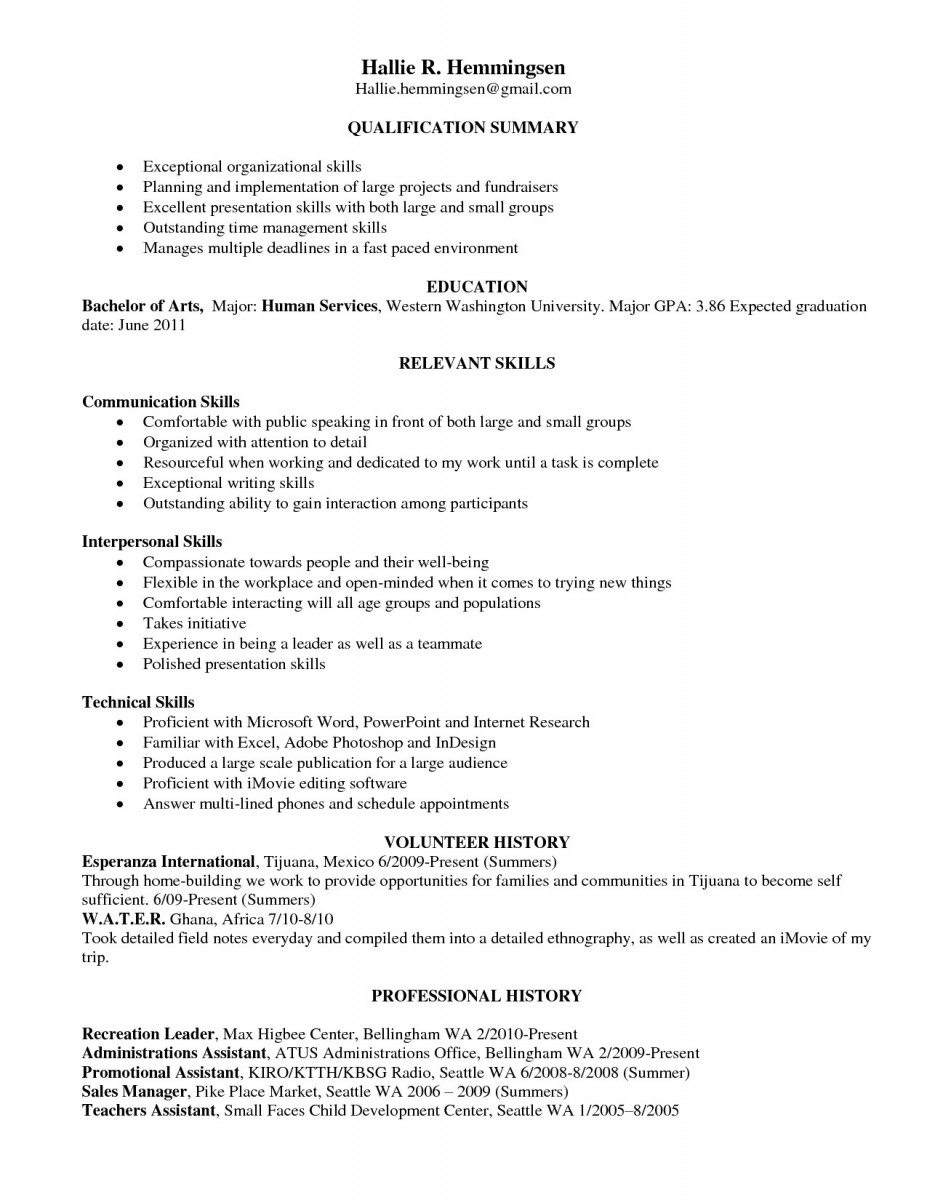 Time Management Resume