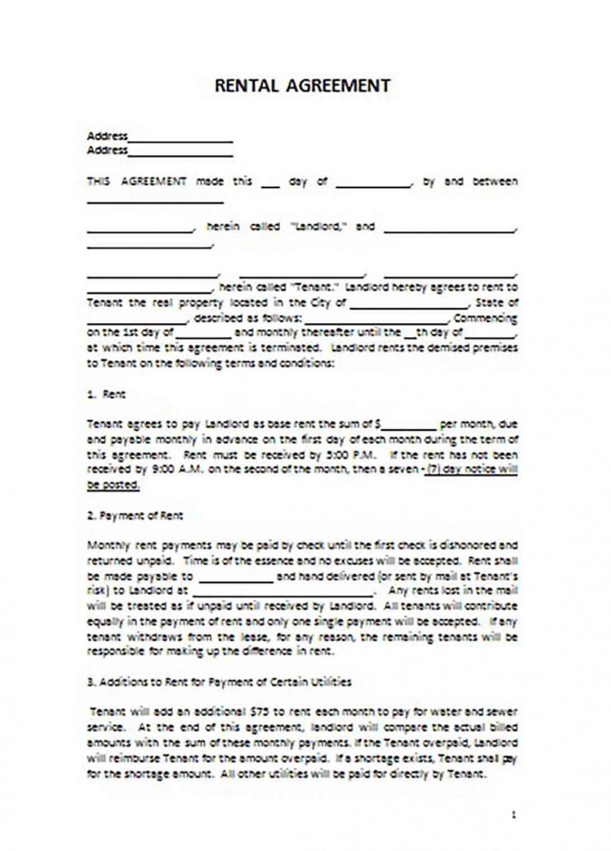 Apartment Basic Rental Agreement templates 1