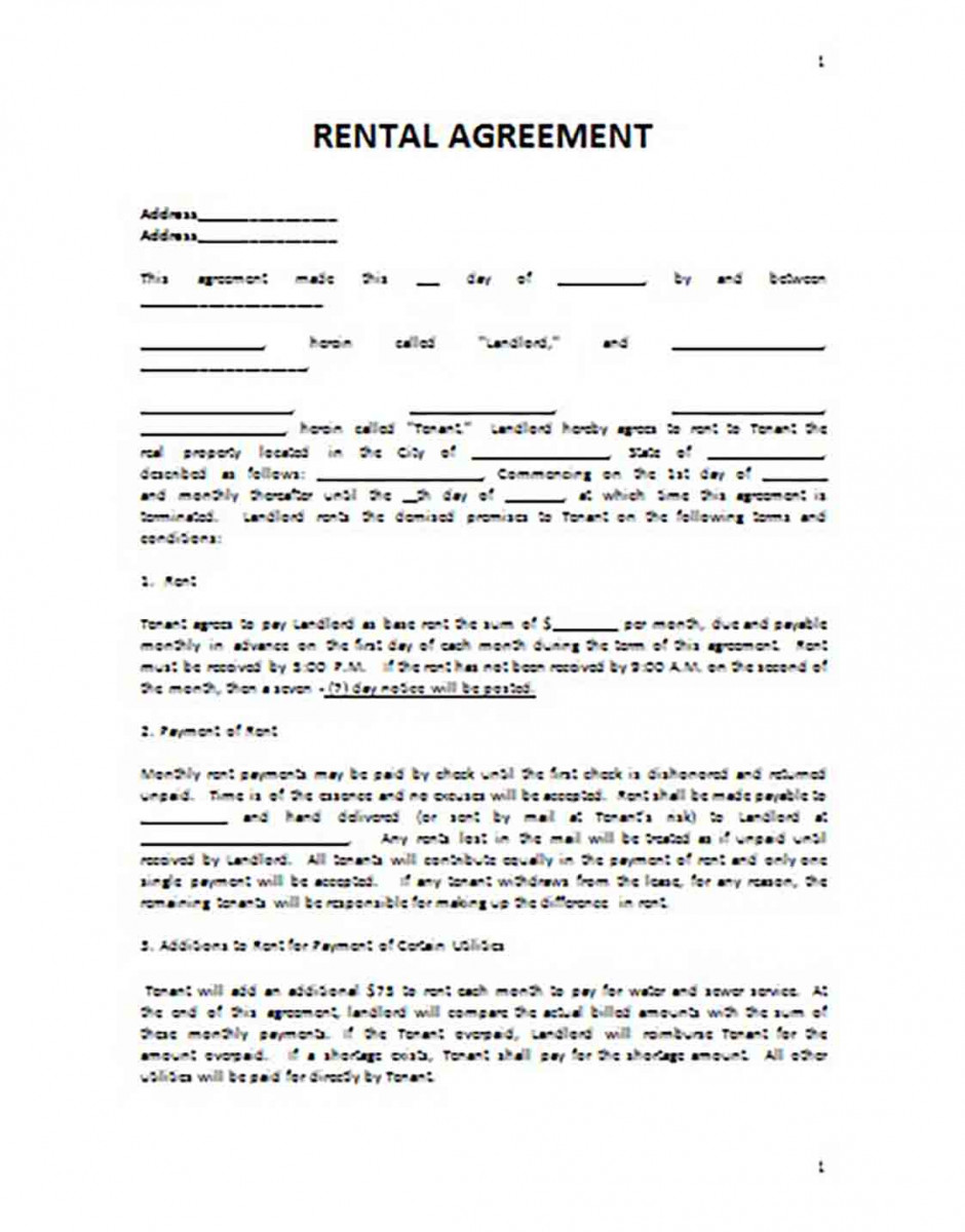 Apartment Basic Rental Agreement templates