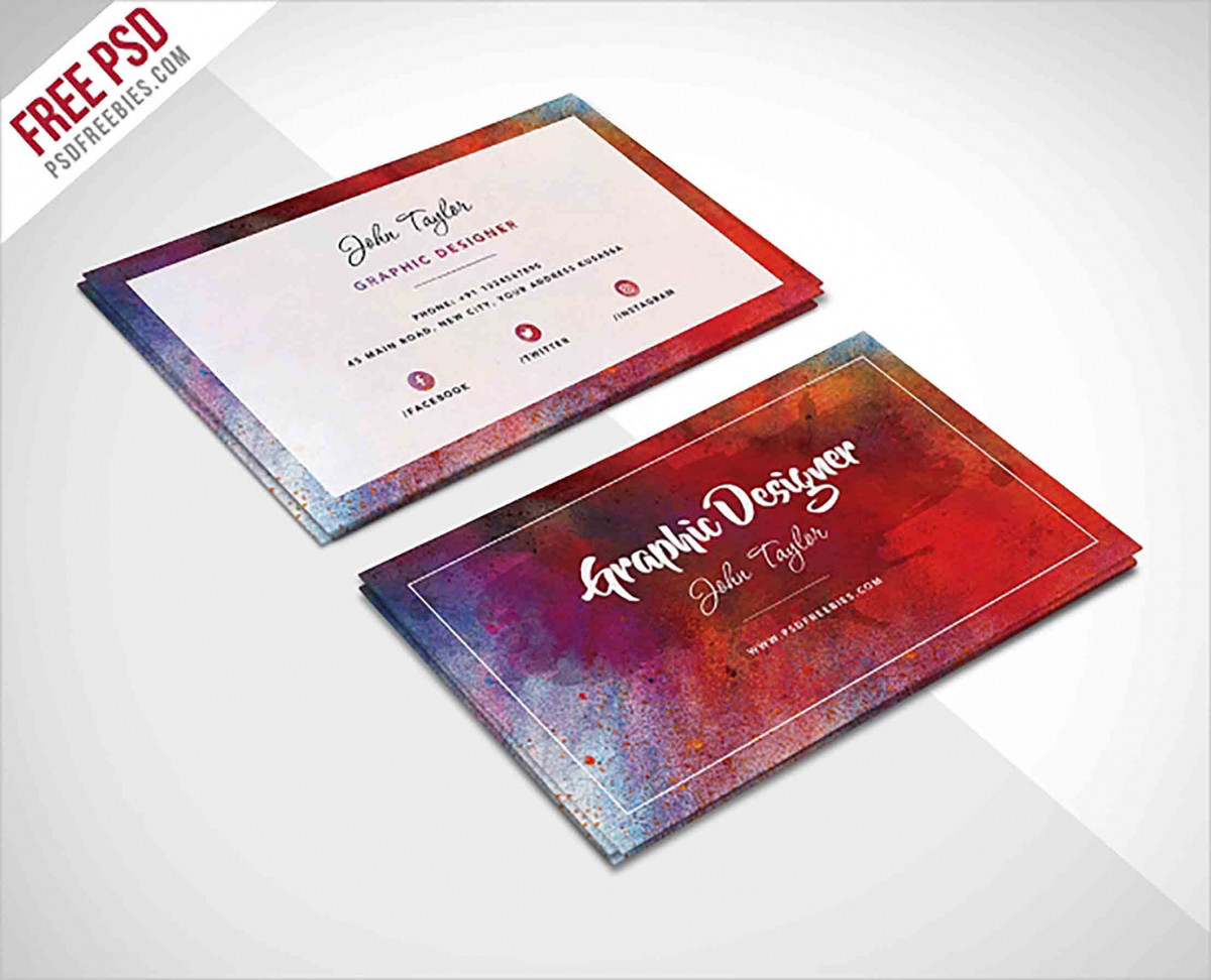 Artist Abstract Business Card templates