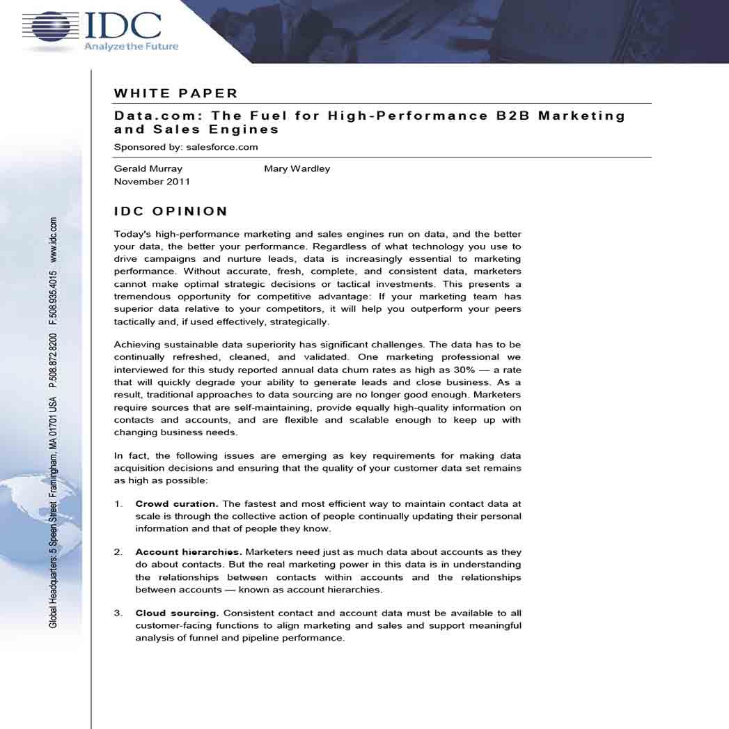 B2B Marketing White Paper 1