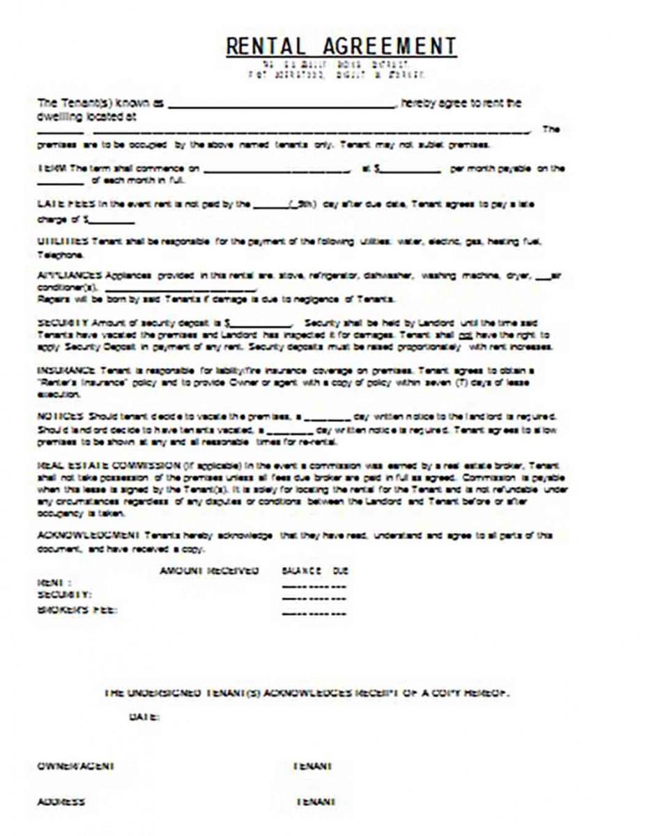 Basic Rental Agreement 1