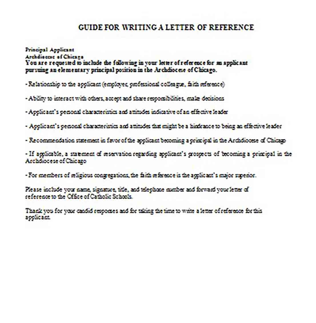 Basic Writing a Reference Letter Examples