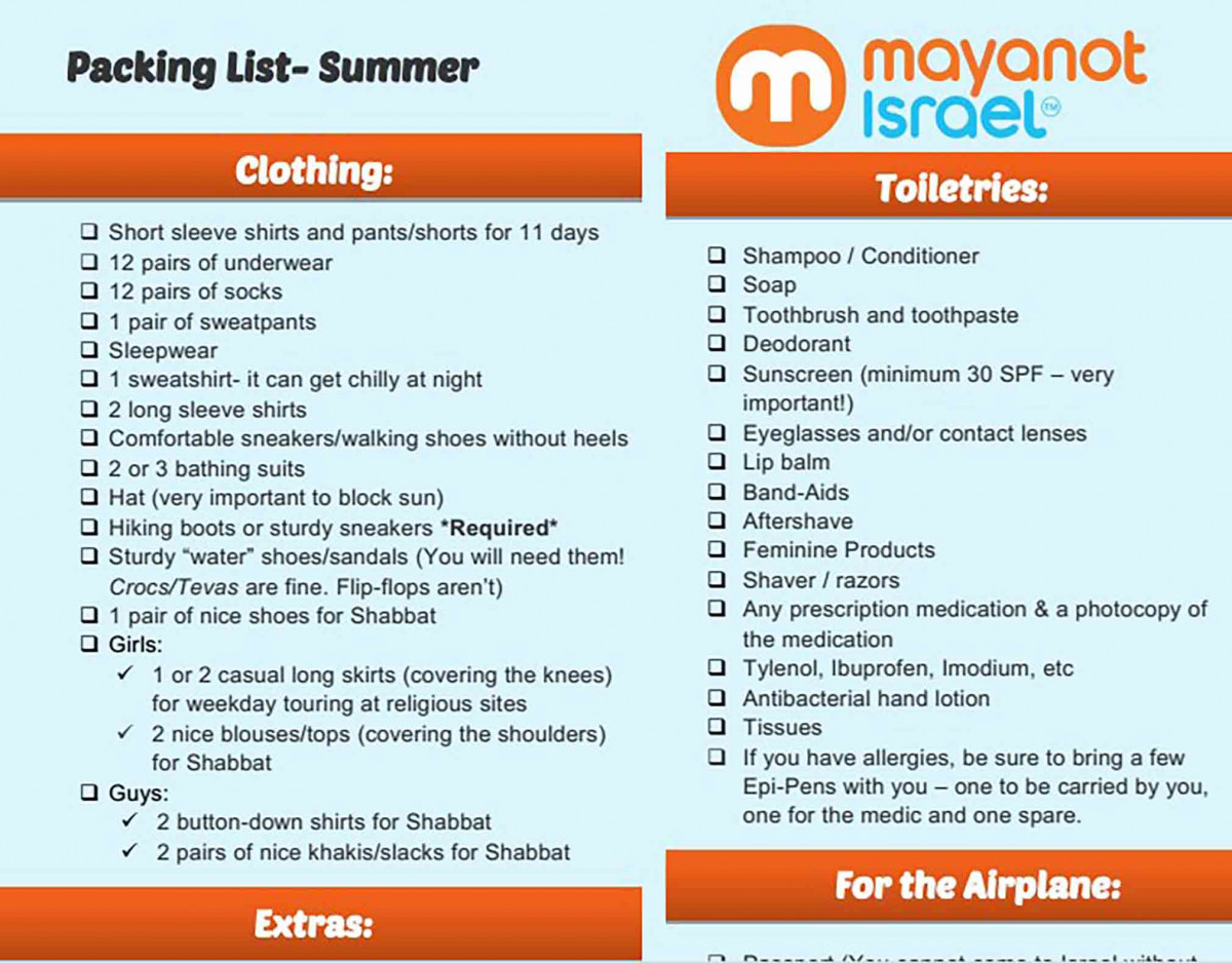 Best Summer Packing List
