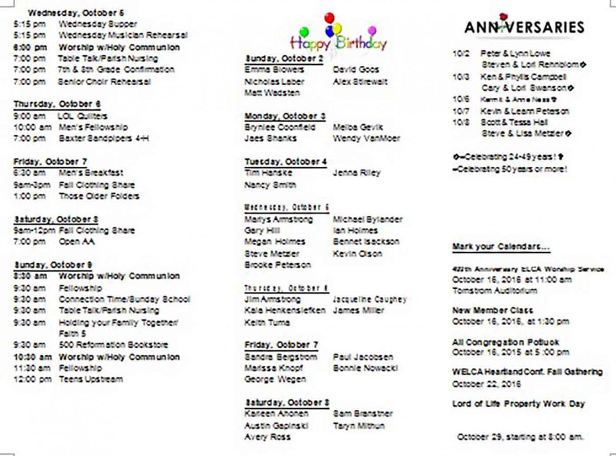 Blank Weekly Family Calendar