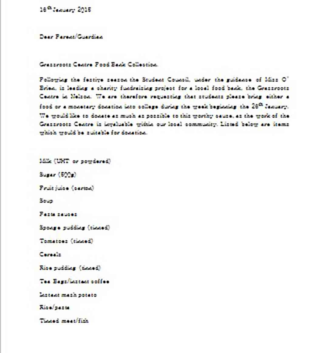Charitable Donation Letter templates