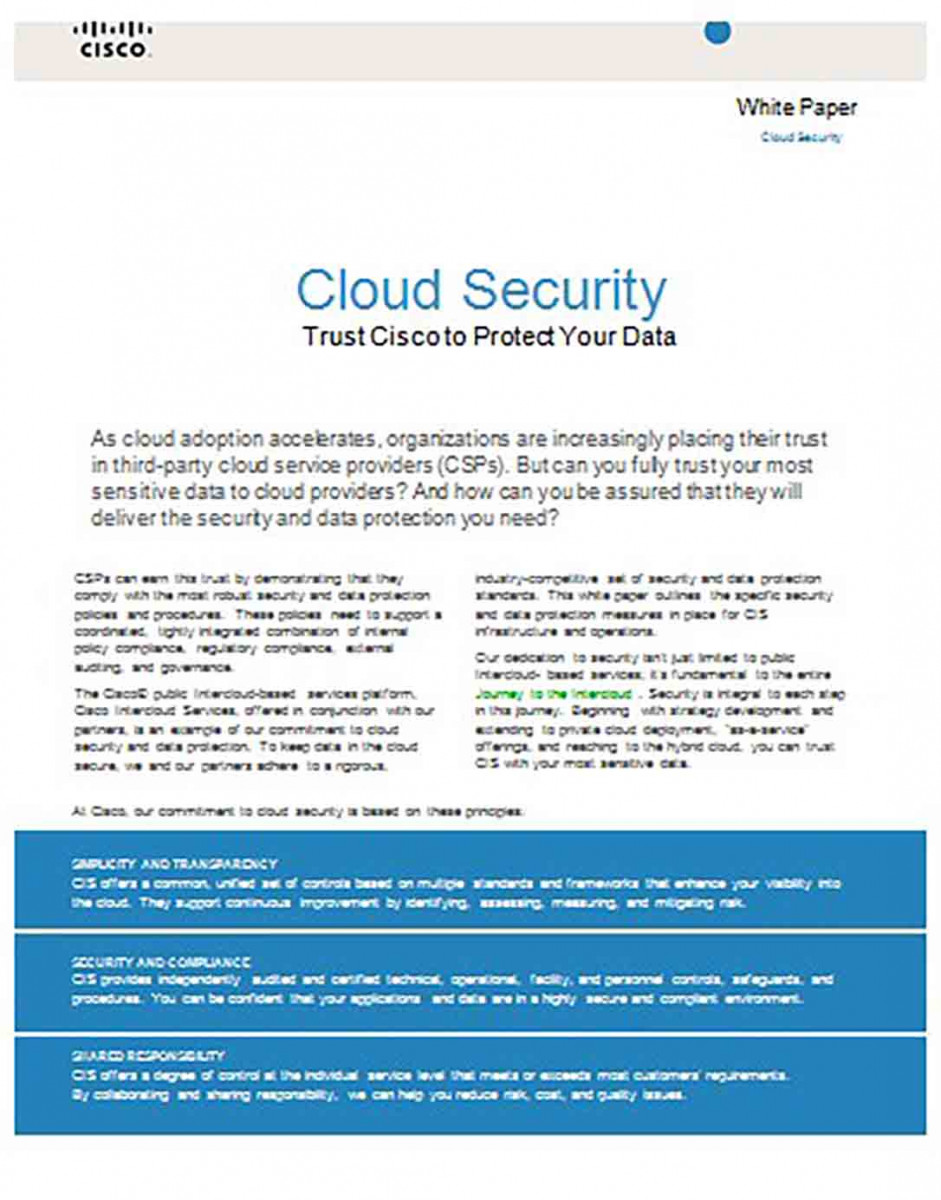 Cloud Security White Paper