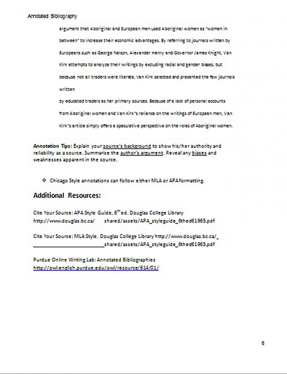 Creating an Annotated Bibliography Generator Sample 6