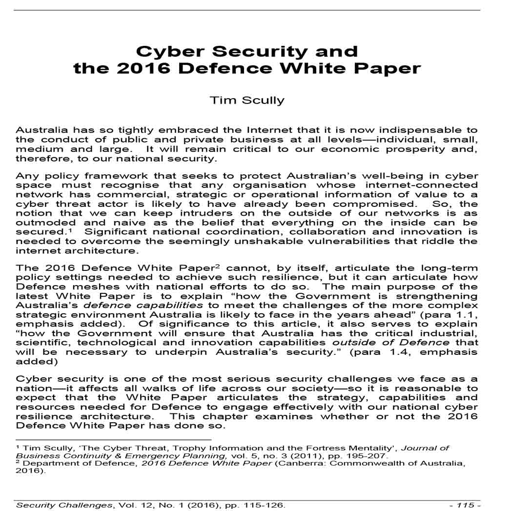 Cyber Security White Paper 1