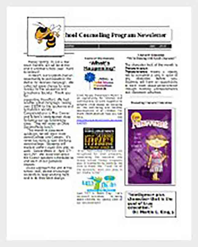 Elementary Student Classroom Newspaper Word Format
