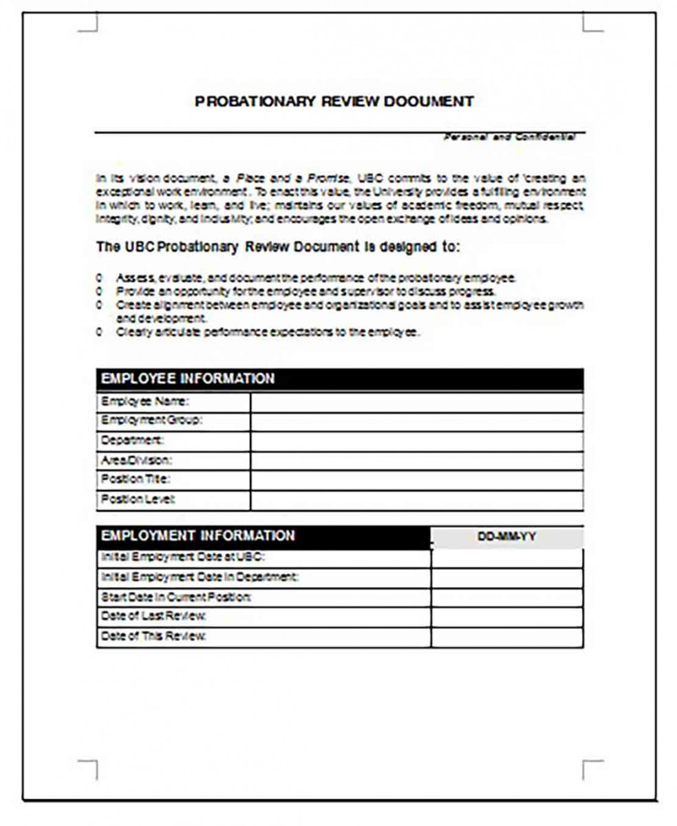 Employee Probation Review templates