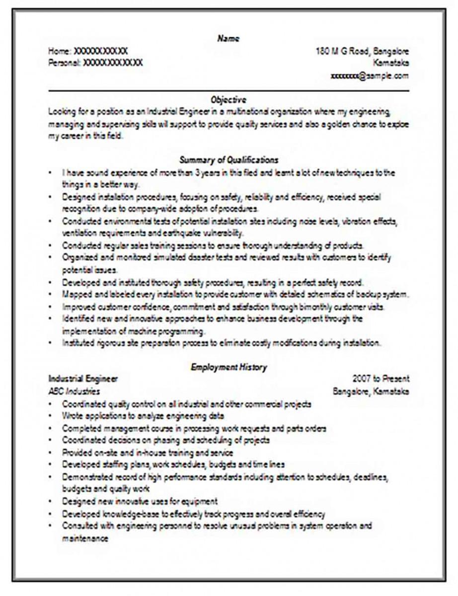 Engineer Resume Format
