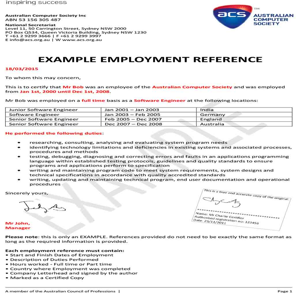 Example Employment Reference templates 1