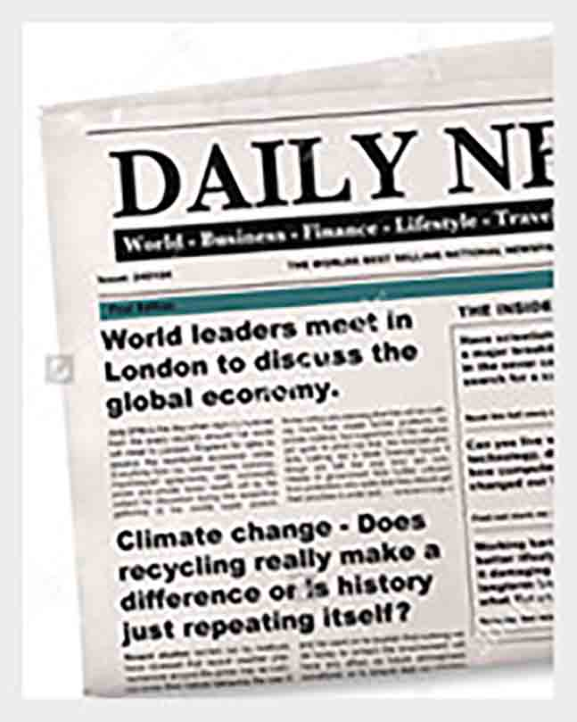 Example of Newspaper Headline templates1
