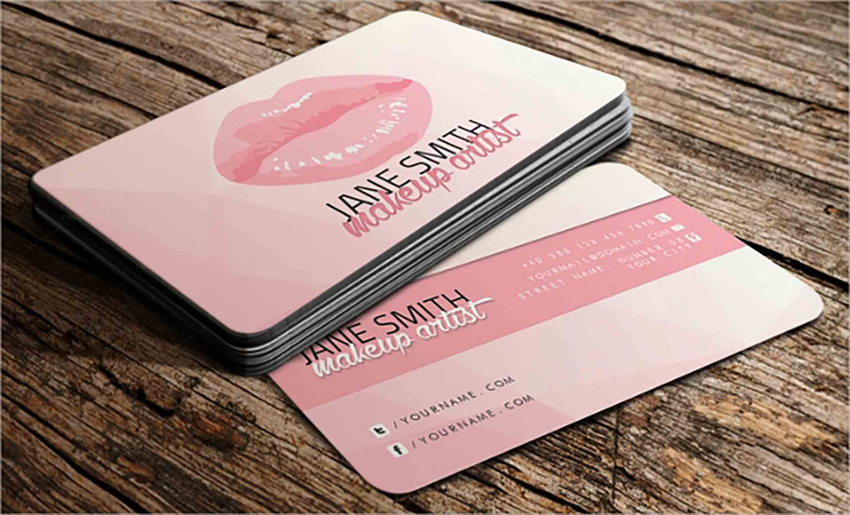 Feminine Artist Business Card