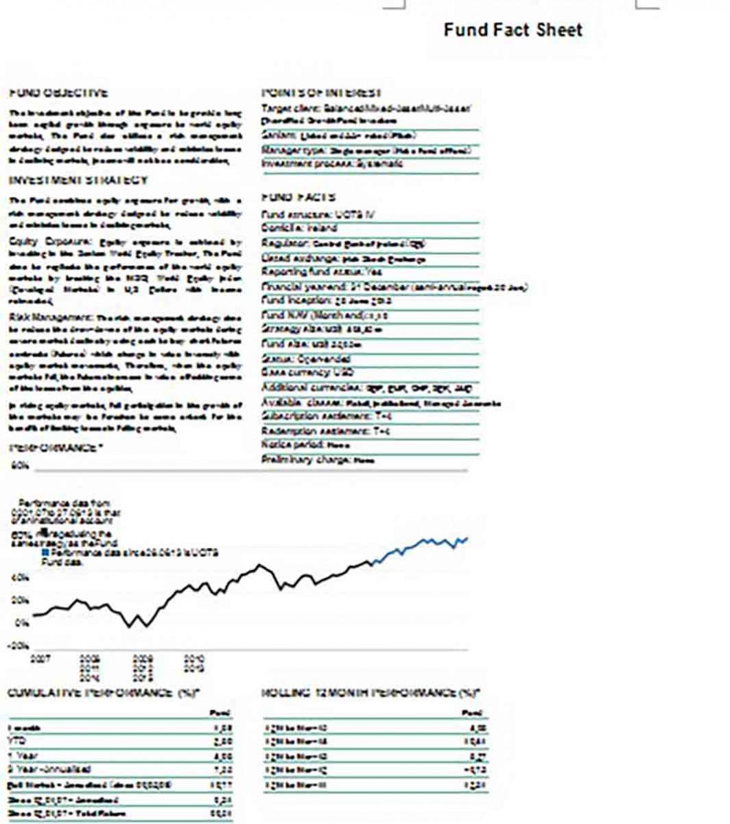 Fund Fact Sheet templates
