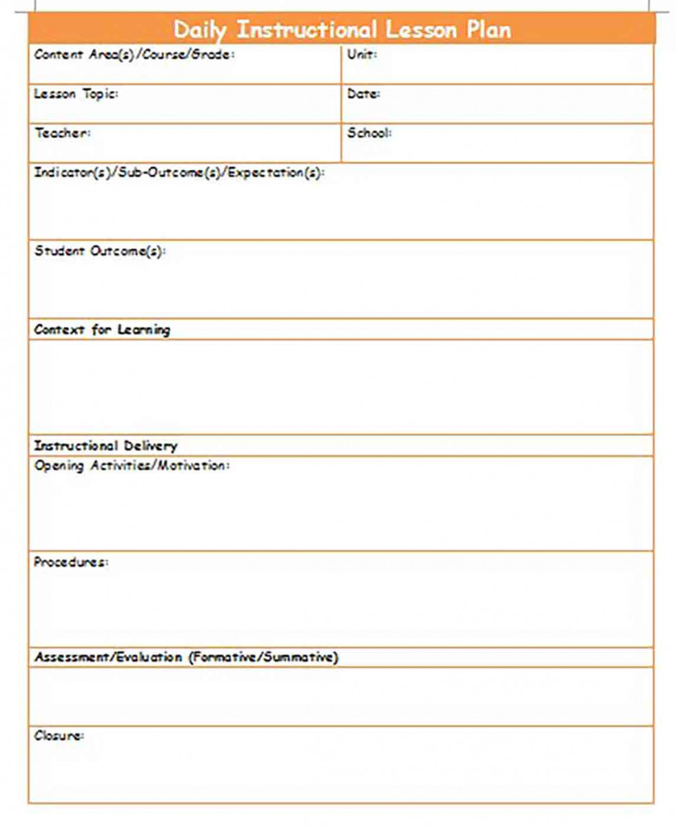 Generic Lesson Plan templates