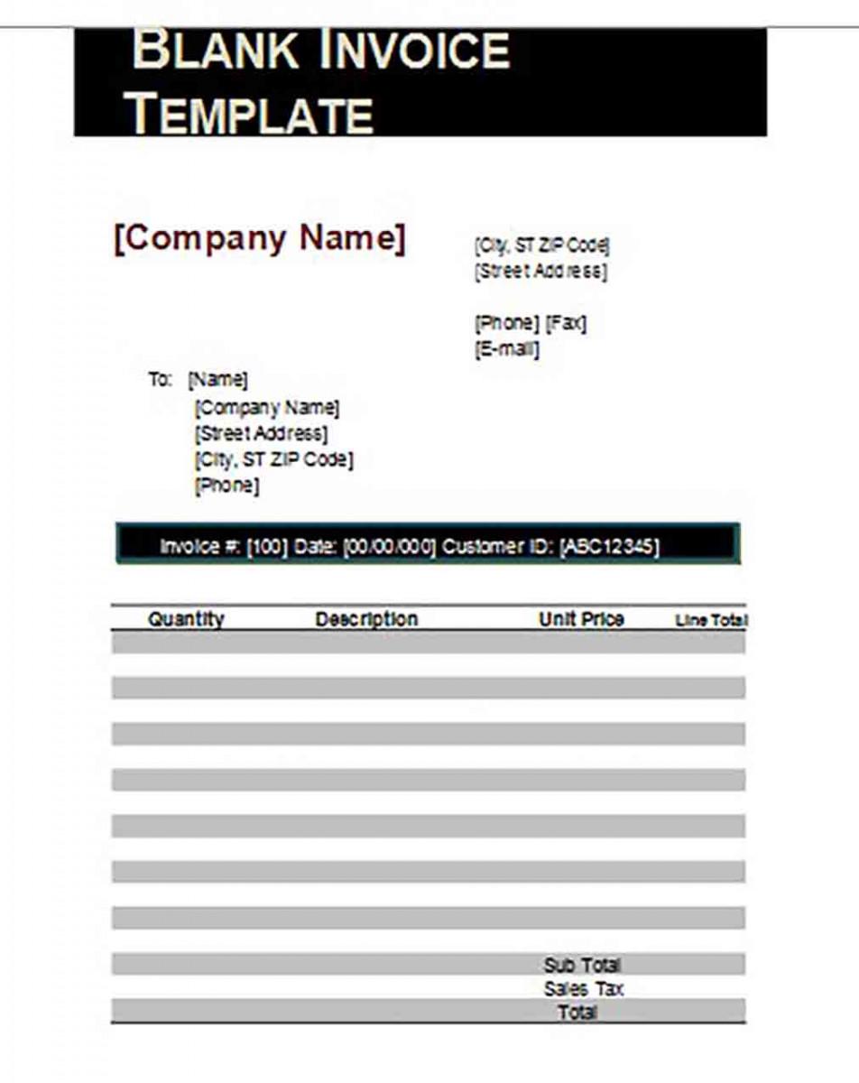 Google Blank Invoice templates 1