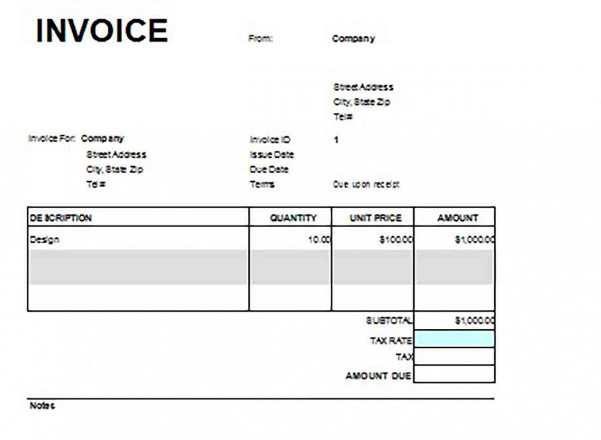 Google Docs Service Invoice templates