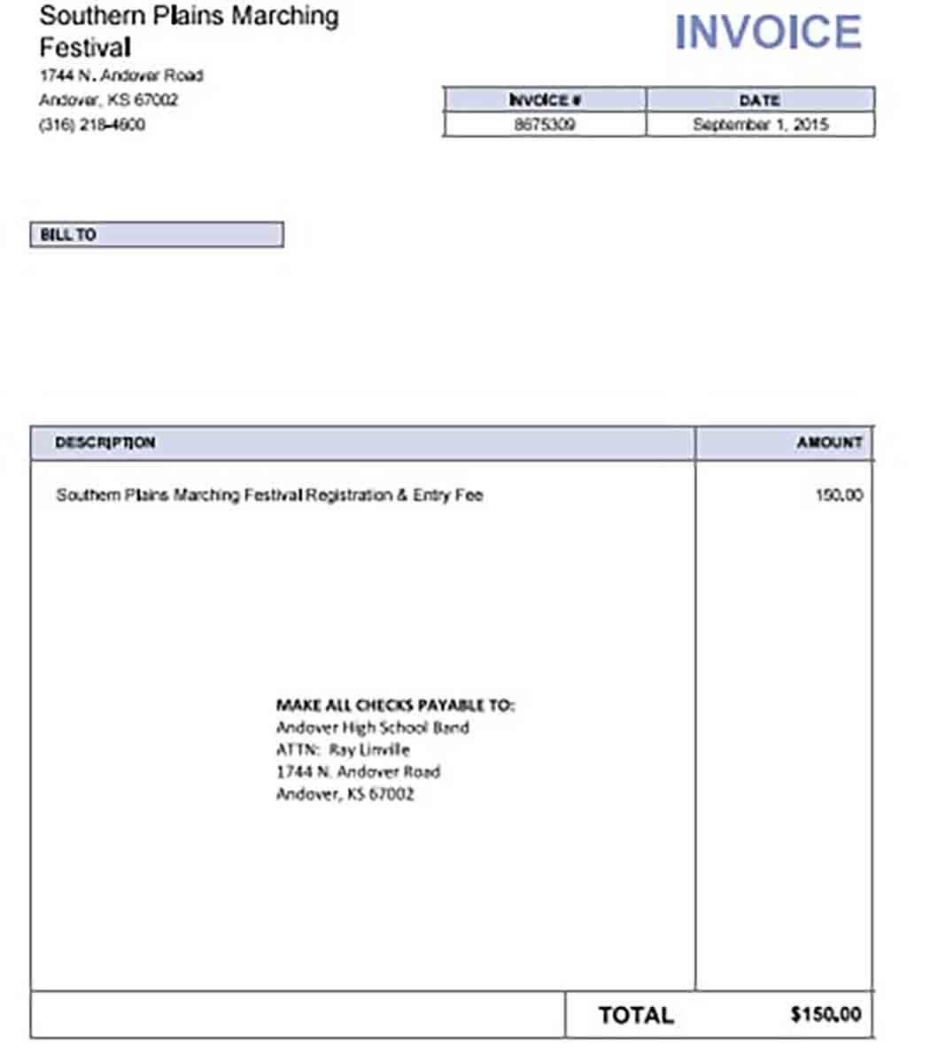Google Drive Invoice templates