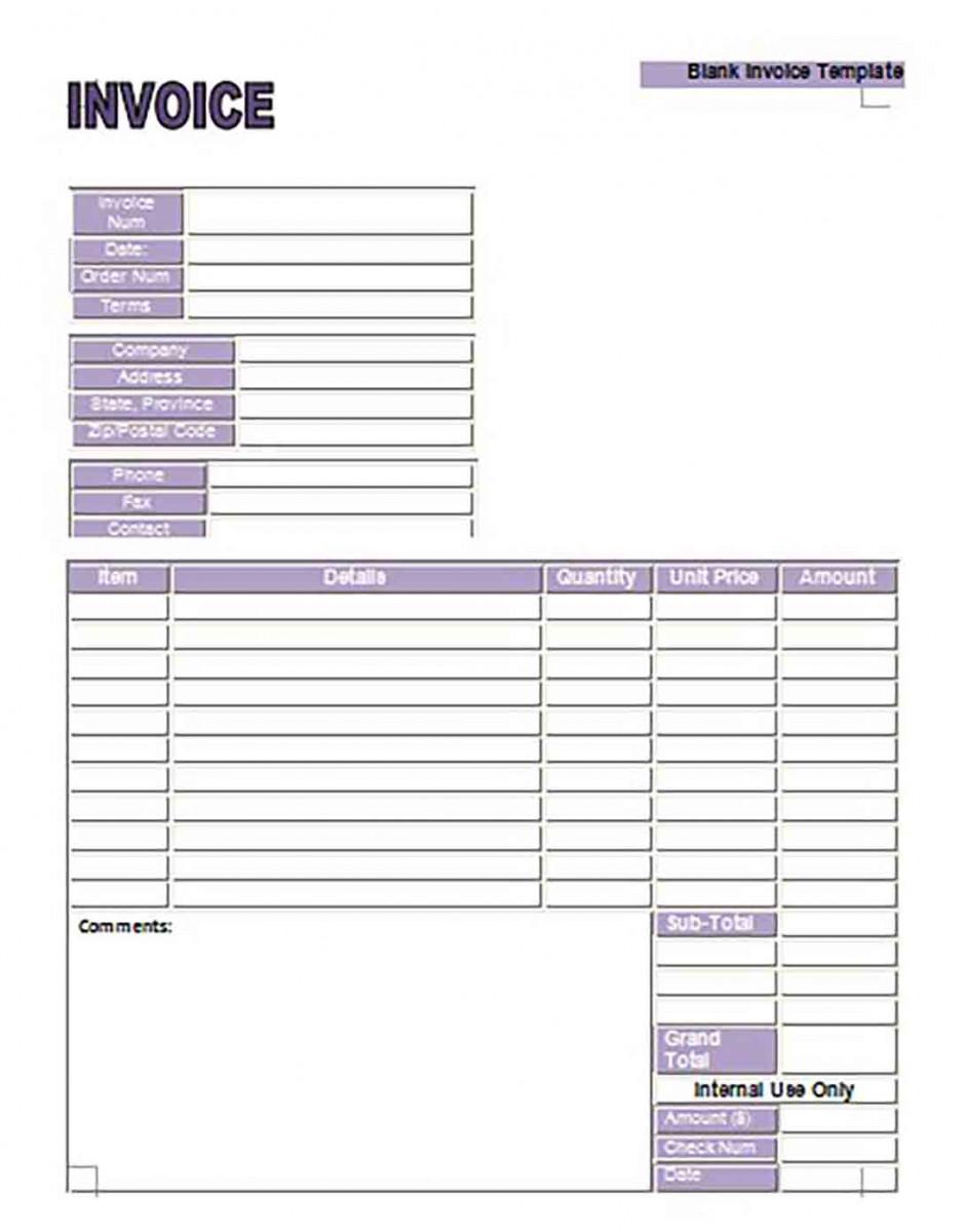Google Invoice templates Example