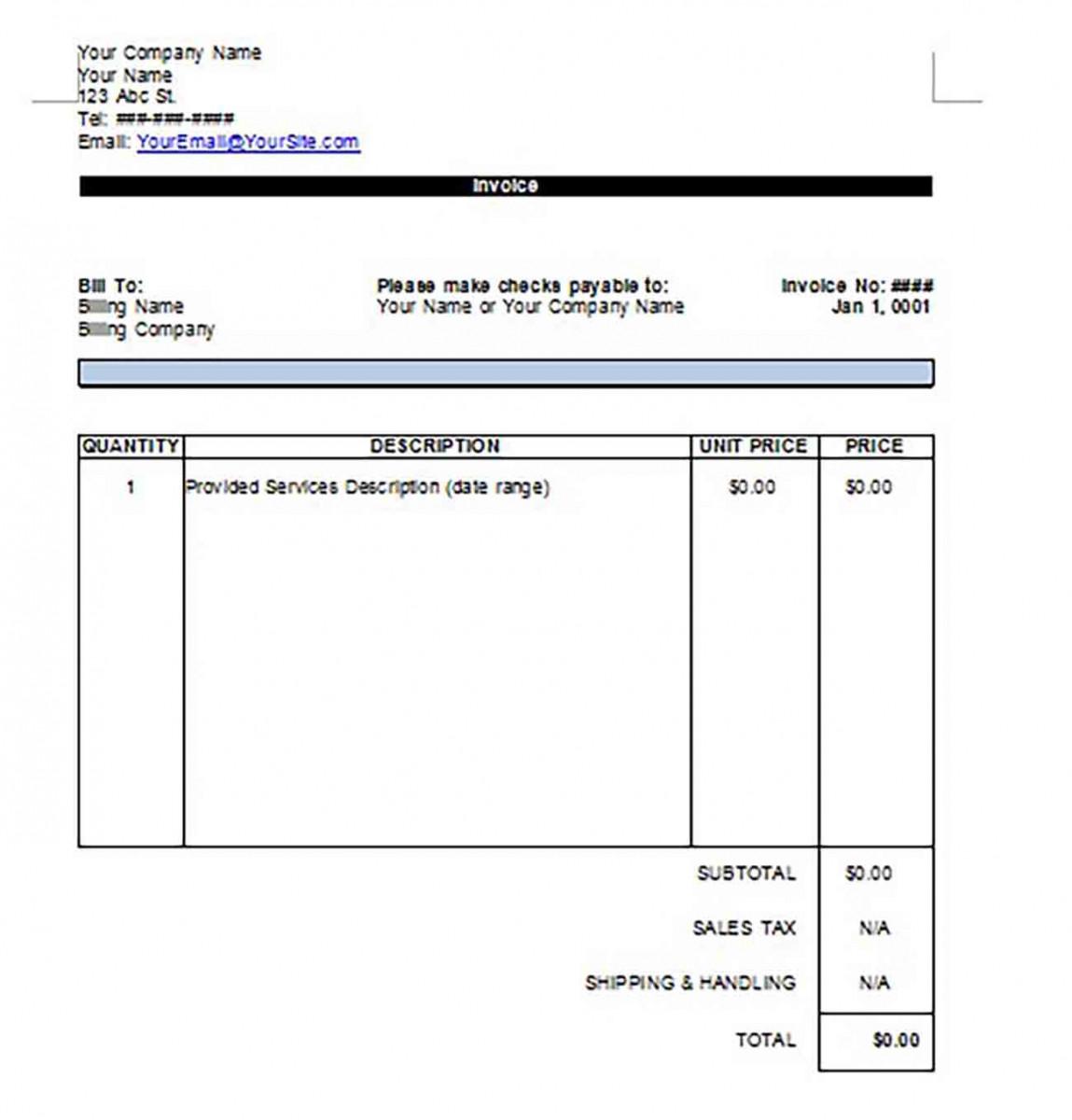 Google Invoice templatess