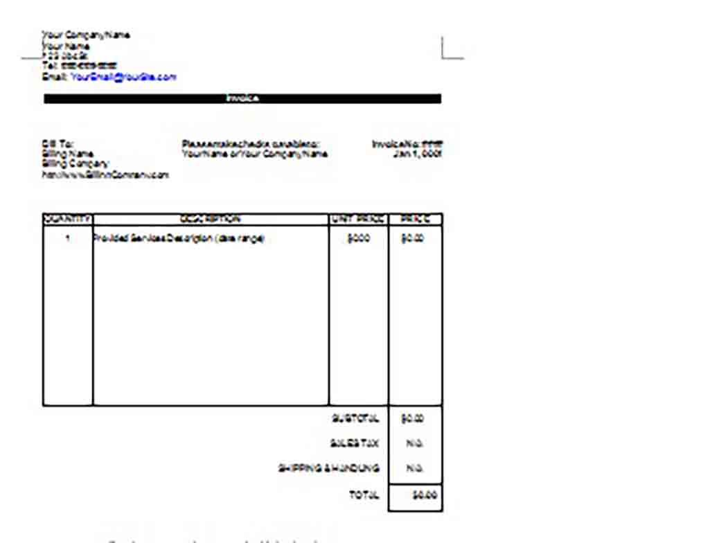 Google Invoice templatess 1 1