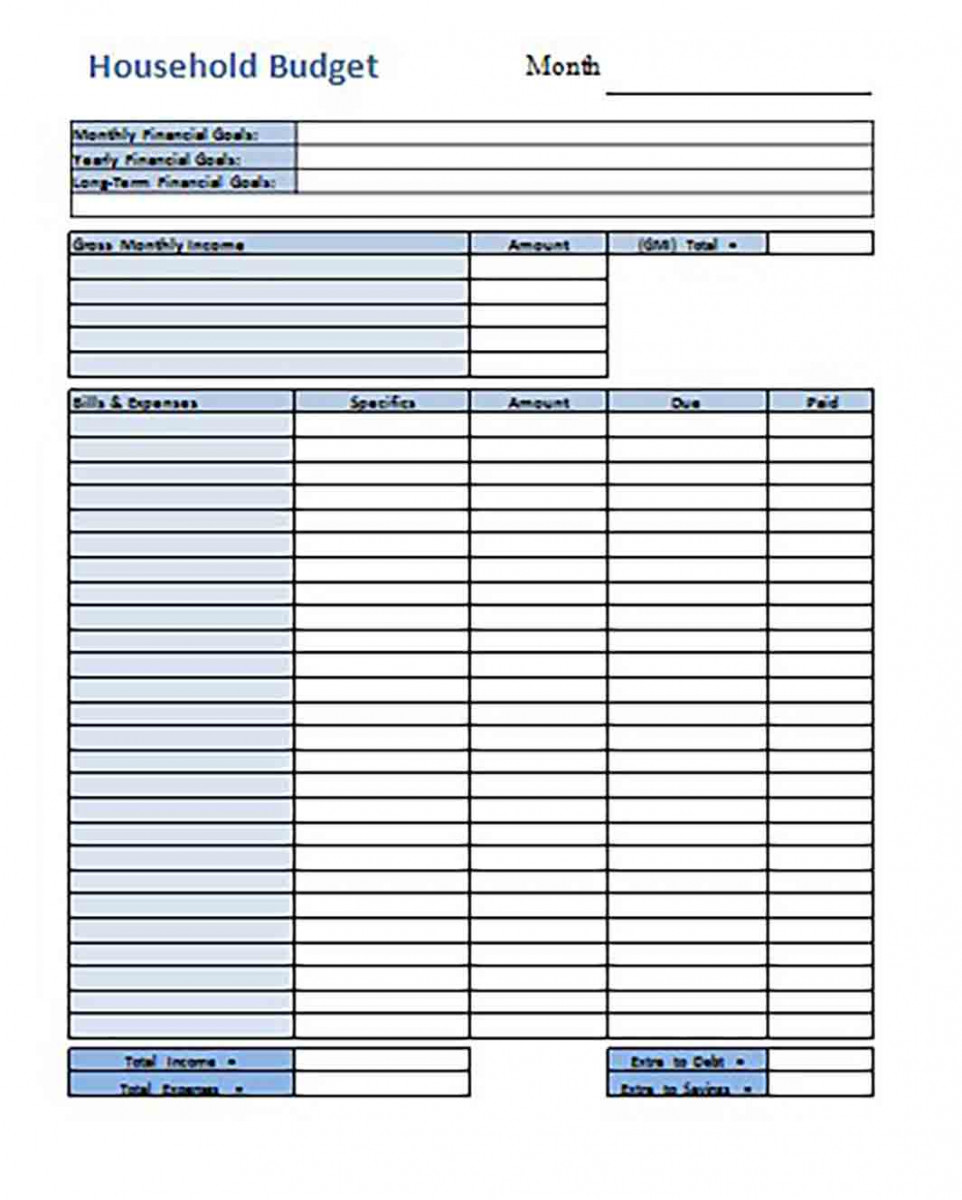 Home Budget templates Format