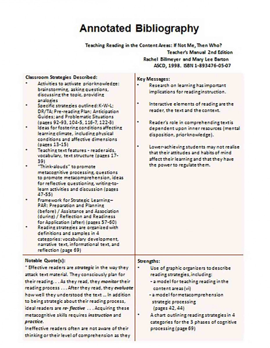 Informative Annotated Bibliography templates Example 3