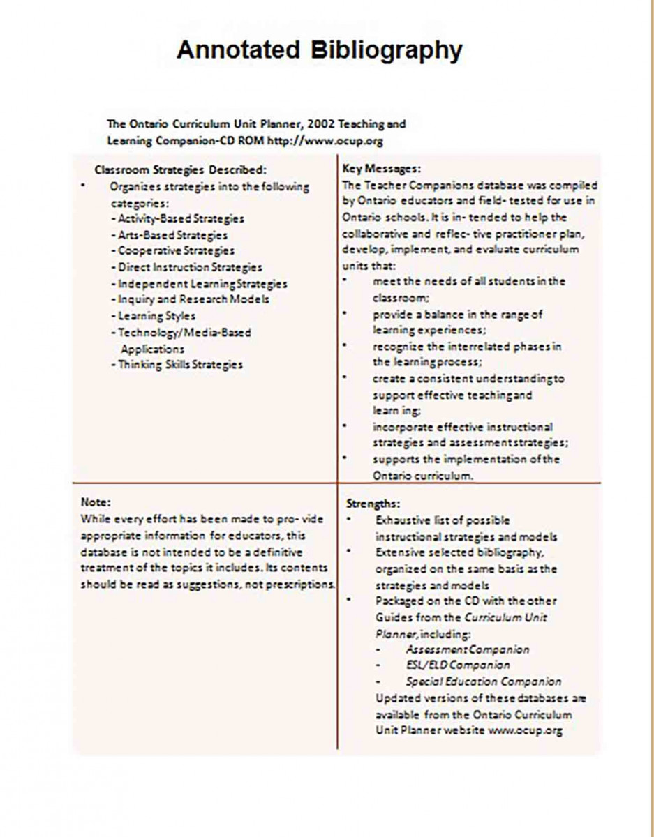 Informative Annotated Bibliography templates Example 8
