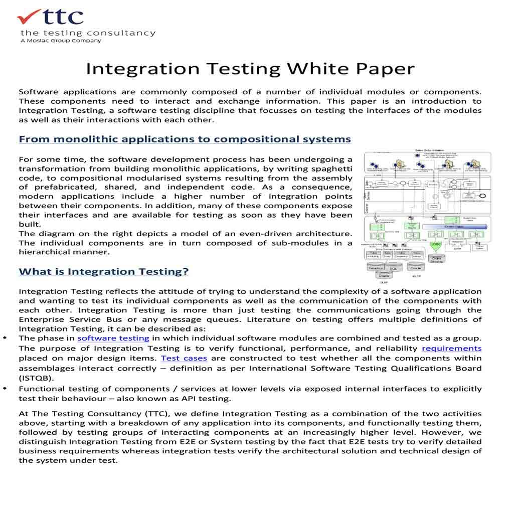 Integration Testing White Paper 1