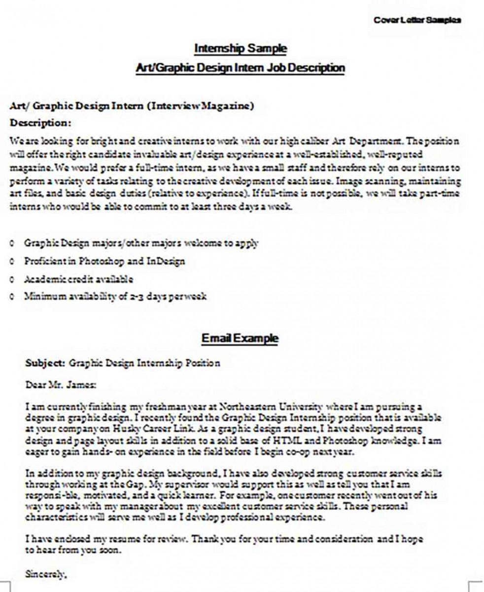 Internship Cover Letter.